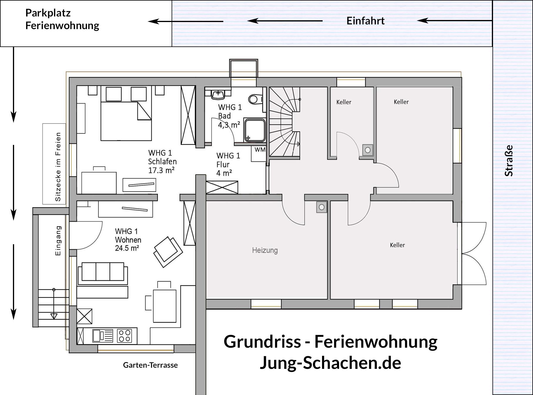 Grundriss Ferienwohnung Jung-Schachen.de